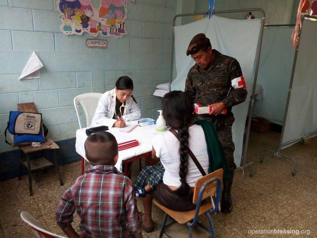 Operation Blessing partnered with the Guatemalan army to offer a medical mission for those affected by the earthquake.