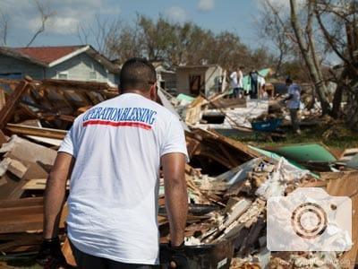 Operation Blessing volunteers are working hard in Texas on Hurricane Harvey recovery efforts.