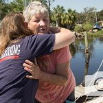 Hurricane Irma victims, like this one, were thankful for the help they received.