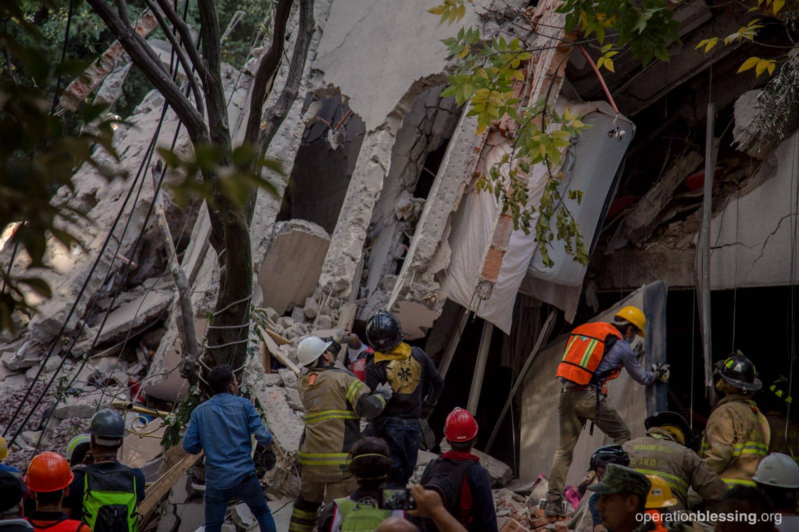 Earthquake damage in Mexico City after the second quake to hit the country in September 2017.