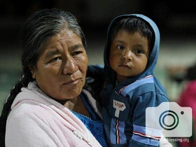 This woman and child are thankful for the emergency aid they received after the Mexico earthquake.