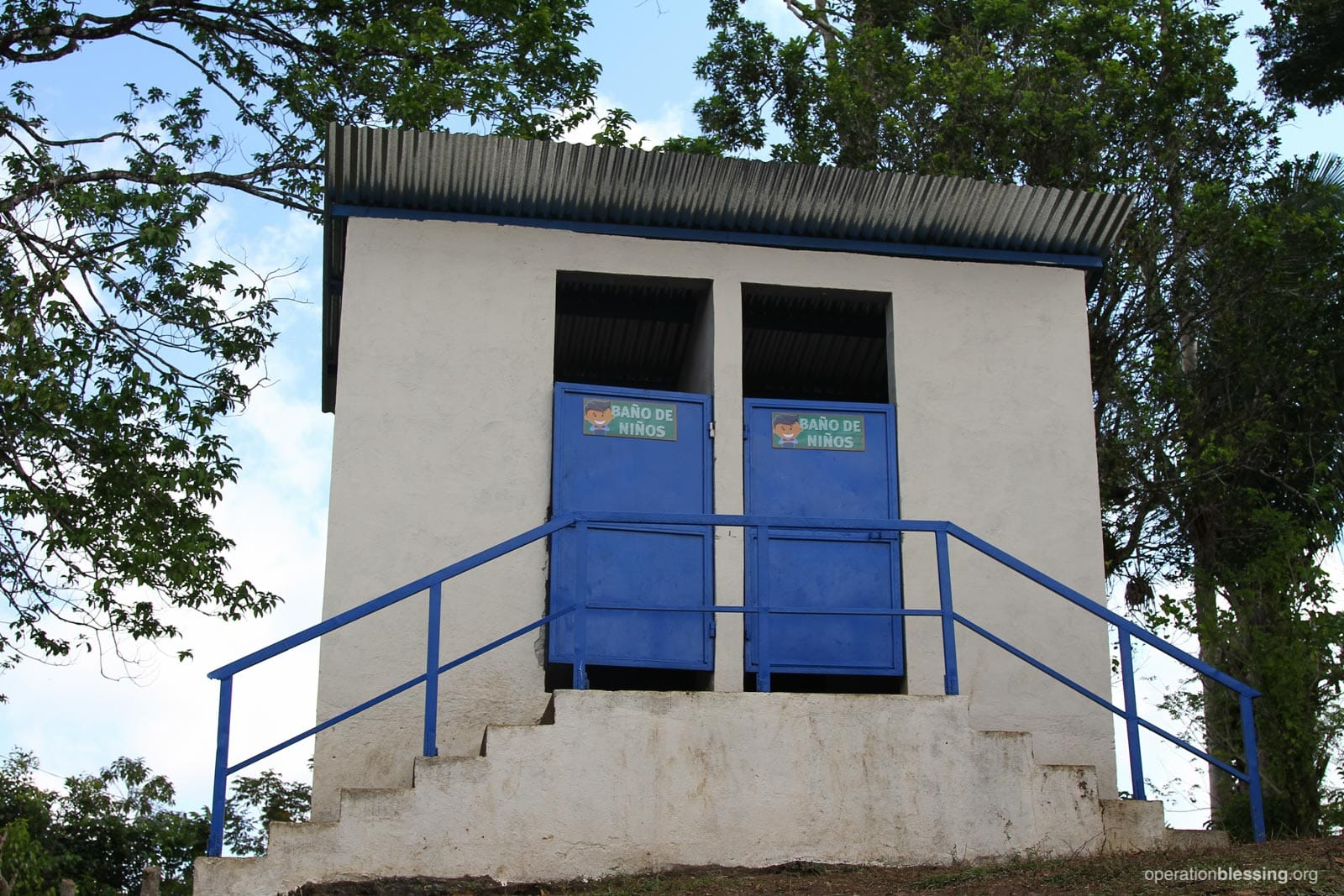 New bathrooms built by Operation Blessing.