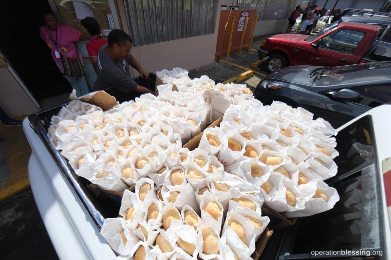 Operation Blessing is helping bring bread to hungry Puerto Ricans.
