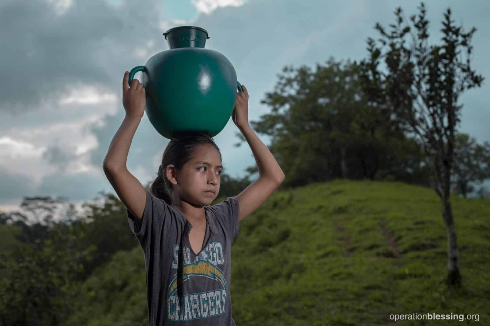 The trek for clean water was long and tiring, especially for 11-year-old Nelly who was often ill from drinking unsafe water.