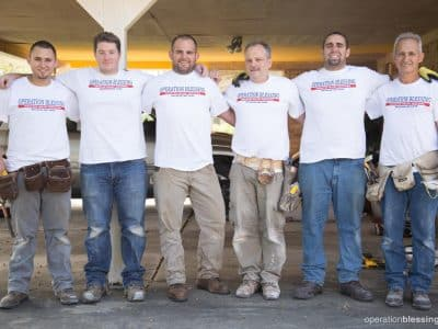 Six men who traveled from Pennsylvania to offer volunteer help to the people of hurricane-ravaged Texas.