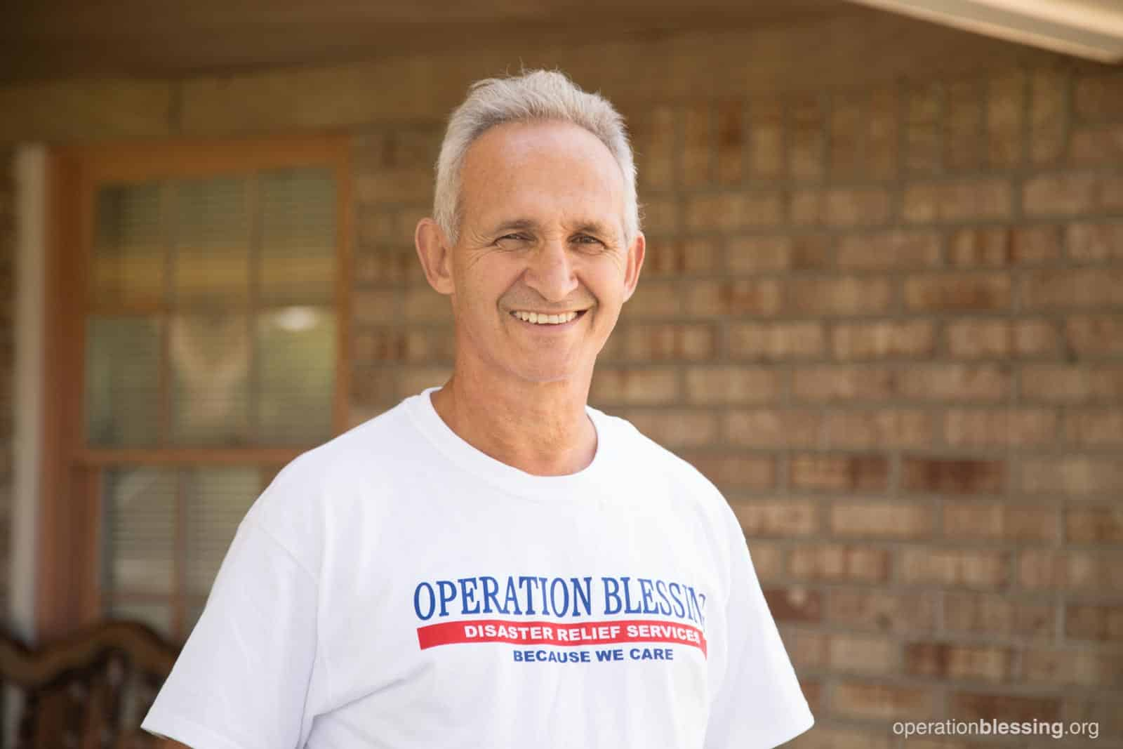 Randy smiles, thankful for the opportunity to offer volunteer help to those in need.