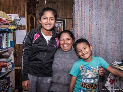 Catalina is a single mother to her daughter, Corali, 12, and Franco, 7. She now has an improved kitchen with a new stove, and safe water.