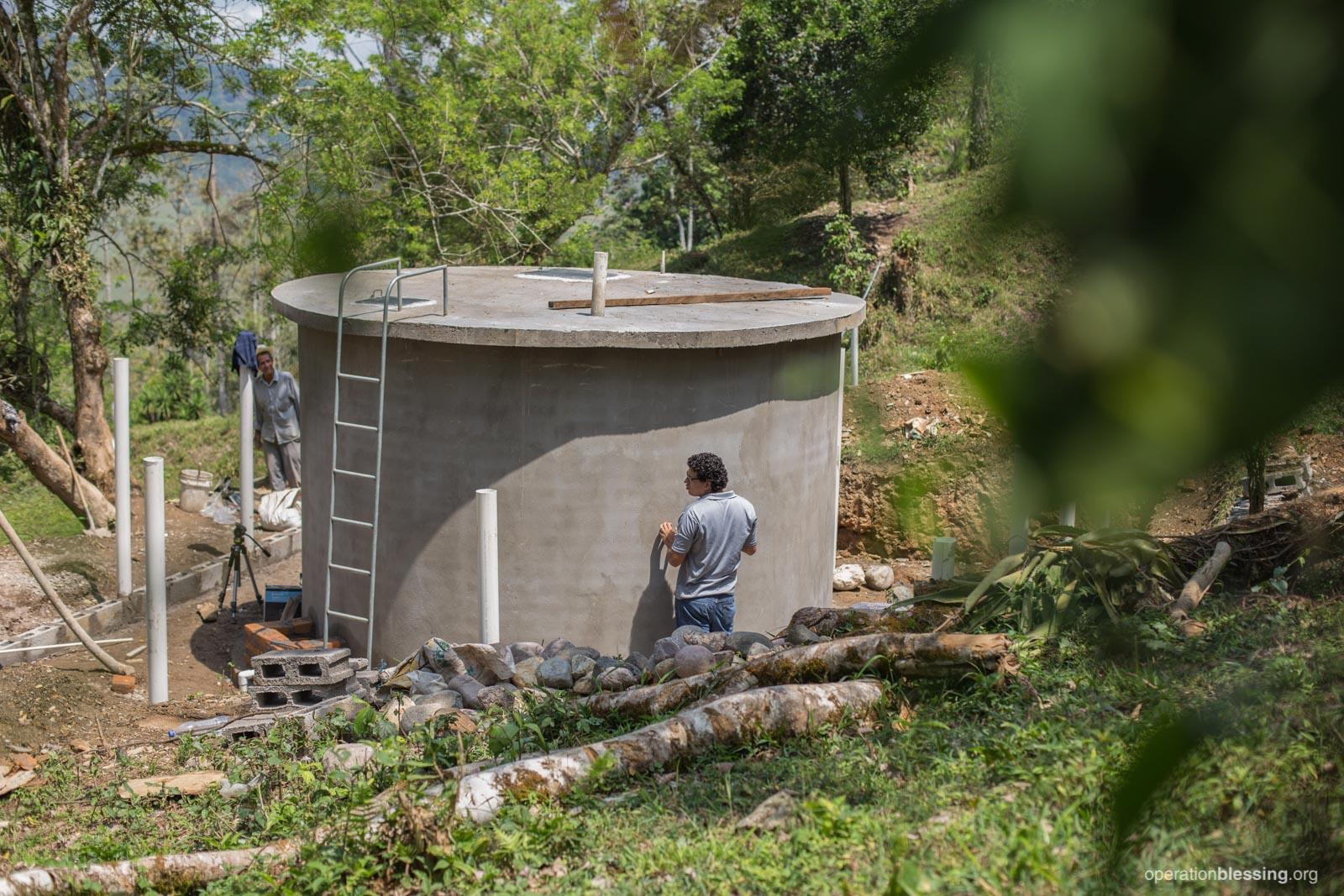 A new safe water tank in San Rafael.