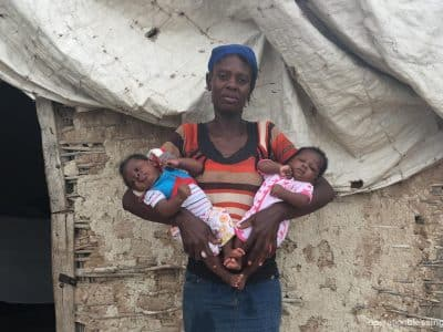 Vulnerable twins in Haiti receive help.
