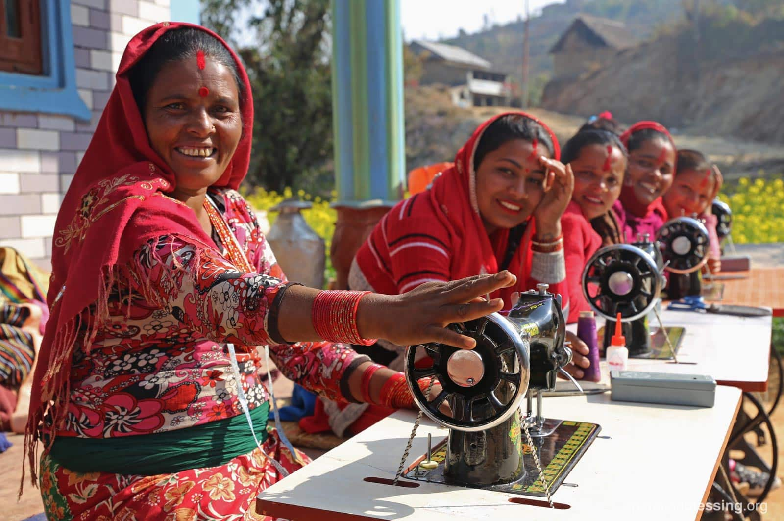 JULY: Impoverished women in Nepal are empowered through sewing lessons and the gift of sewing machines that help them support their families.