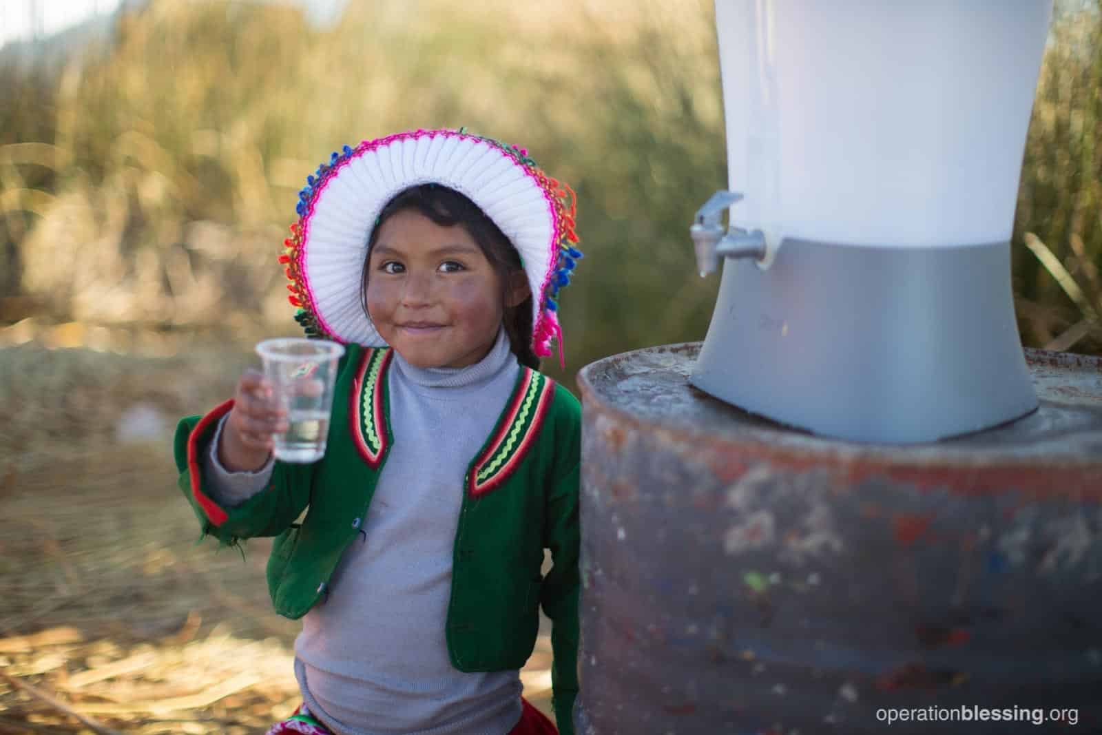 OCTOBER: This community living on Peru's floating islands no longer worry about water-borne illnesses thanks to Kohler Clarity ensuring these families have safe water.