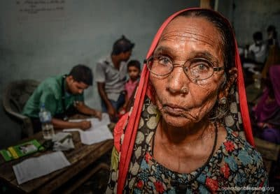 Gayatri at the health clinic where she found her new lease on life.