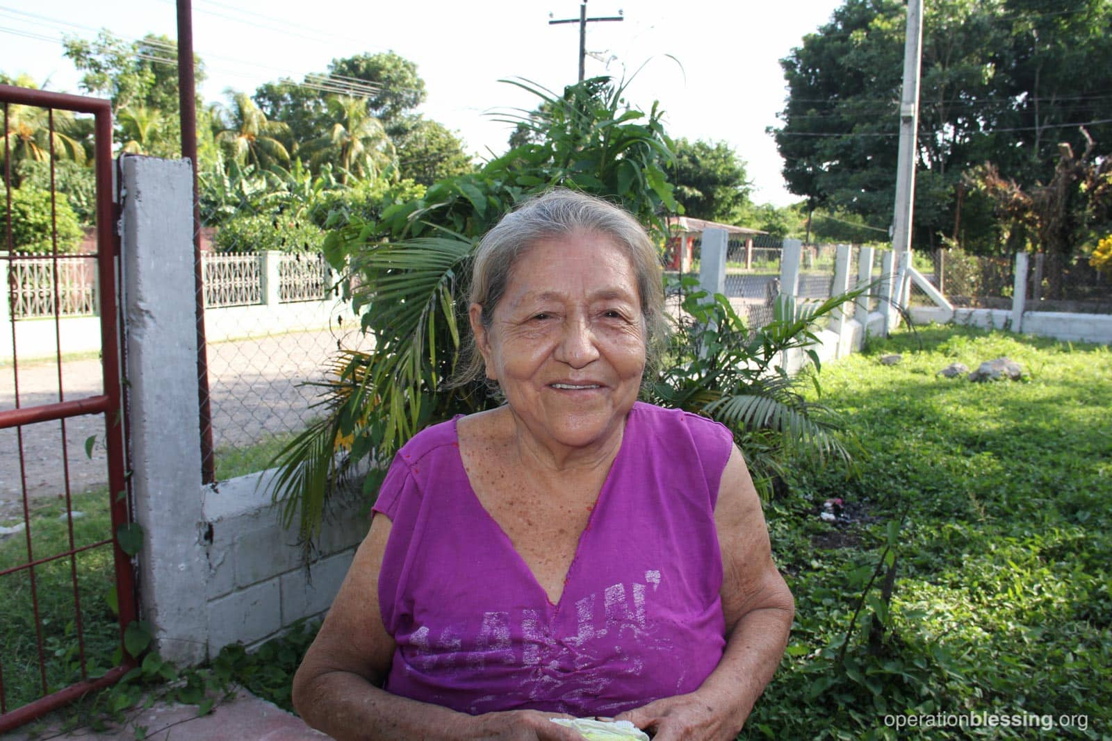 Ethel is back to work and good health thanks to medicine provided by donations to OBI's gift-in-kind program.