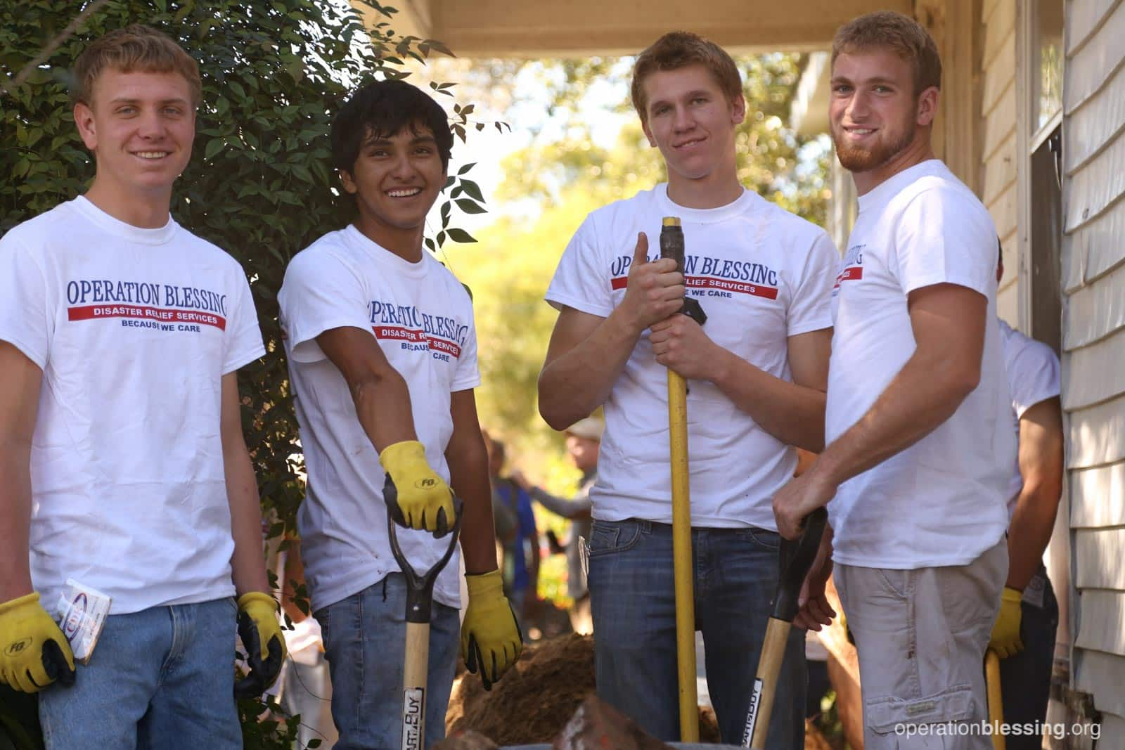 A team of Operation Blessing volunteers.