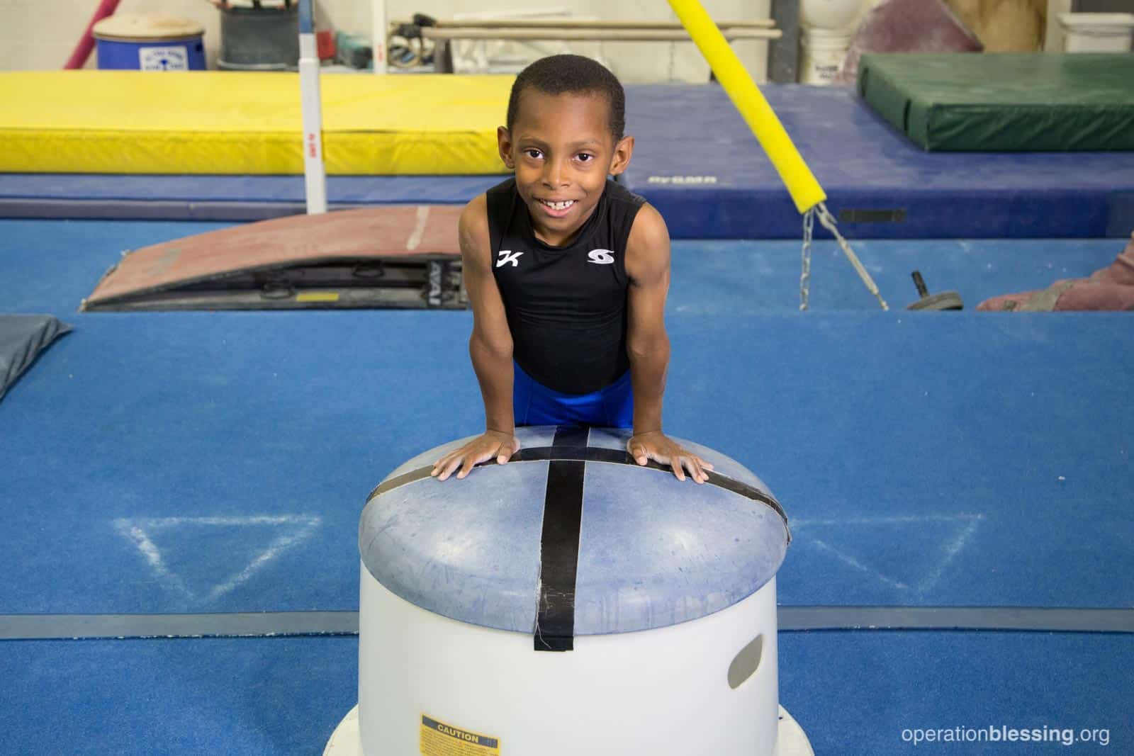 Jeremiah at his gym.