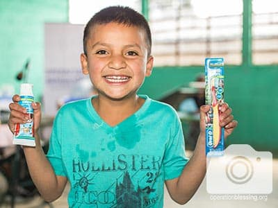 Guatemalan kids like this one smiled thanks to the help they received.