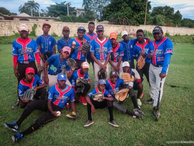 The Tabarre Tigers team, where young Haitians learn not only baseball, but also important life skills.