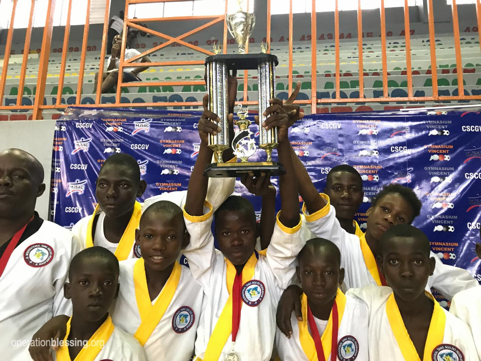 Students in the Tang Soo Do program won several awards at nationals in Haiti. This is just one of many extracurricular programs changing lives.