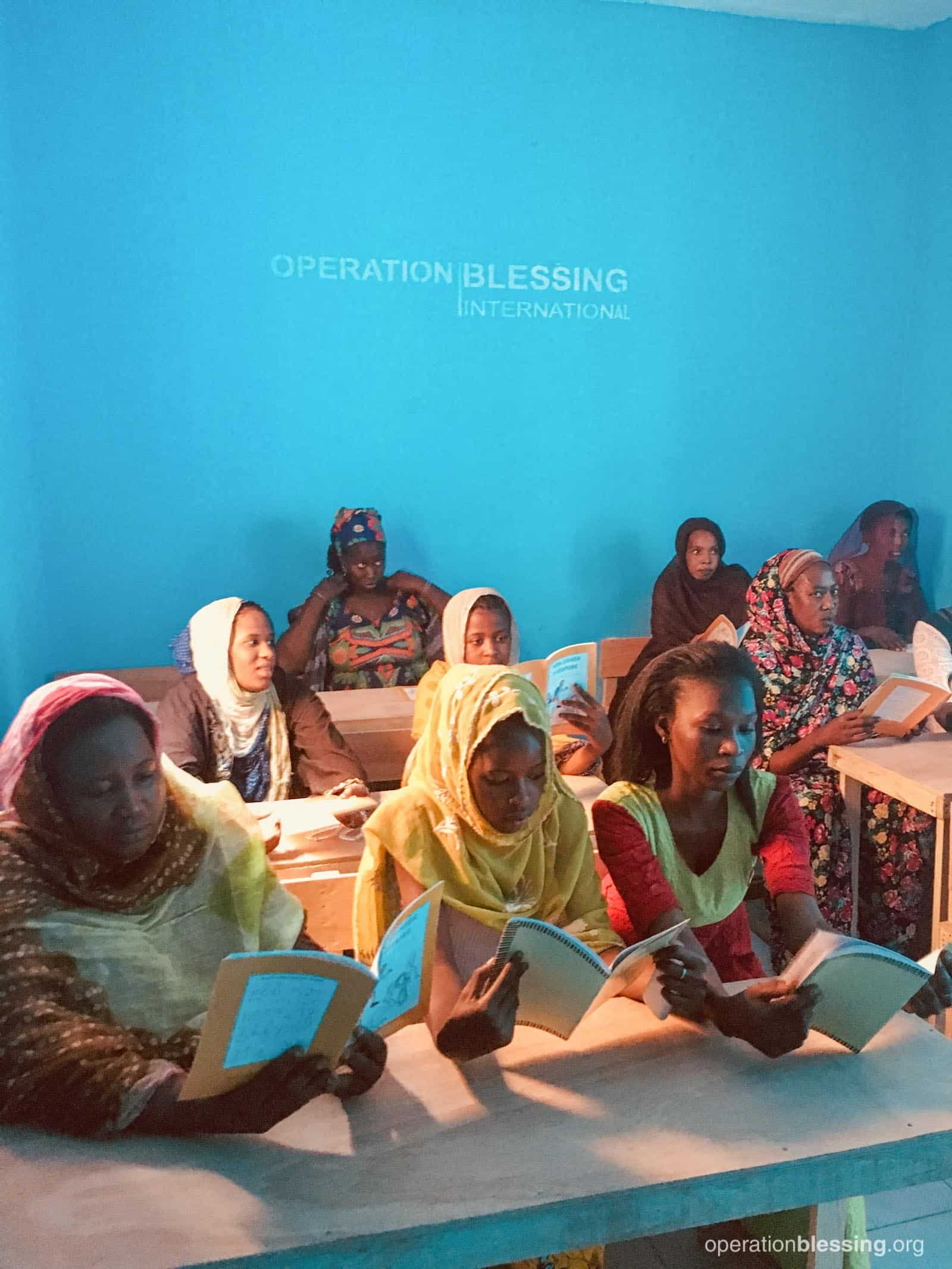 Women in Mauritania learning lifeskills and literacy.