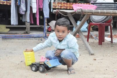 Looking at Rottanak playing with his truck now, it's hard to believe he was born with what some believed to be a curse of clubfoot.
