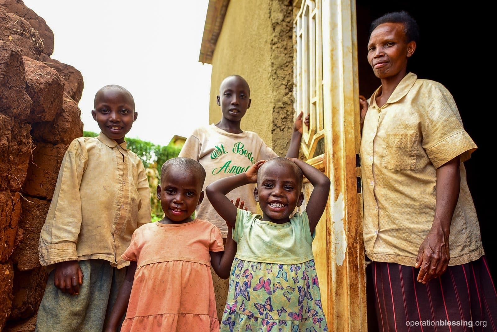 This family in Rwanda no longer has an uncertain future.