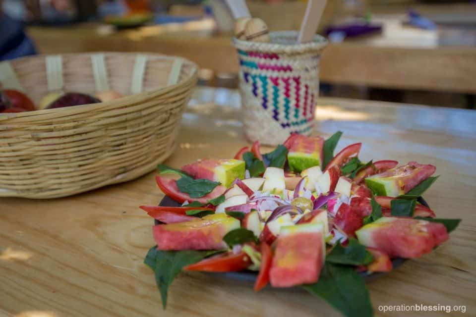 This beautiful salad will provide nutrition to families in Mexico.
