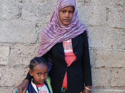 Yitayish and her daughter Mahlet are no longer begging on the streets thanks to OBI partner, Embracing Hope Ethiopia.