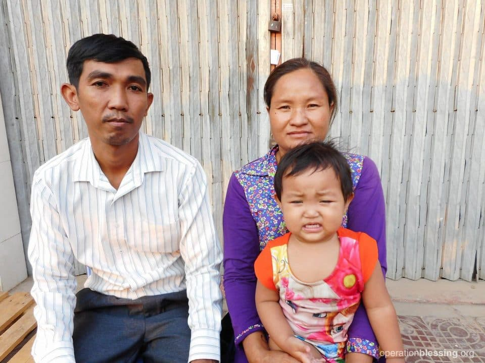 Sonita with her family after her treatment.