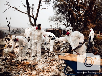 Operation Blessing partners are joining forces with Bethel, a local church in Redding, California, to help the victims of the Carr wildfire.