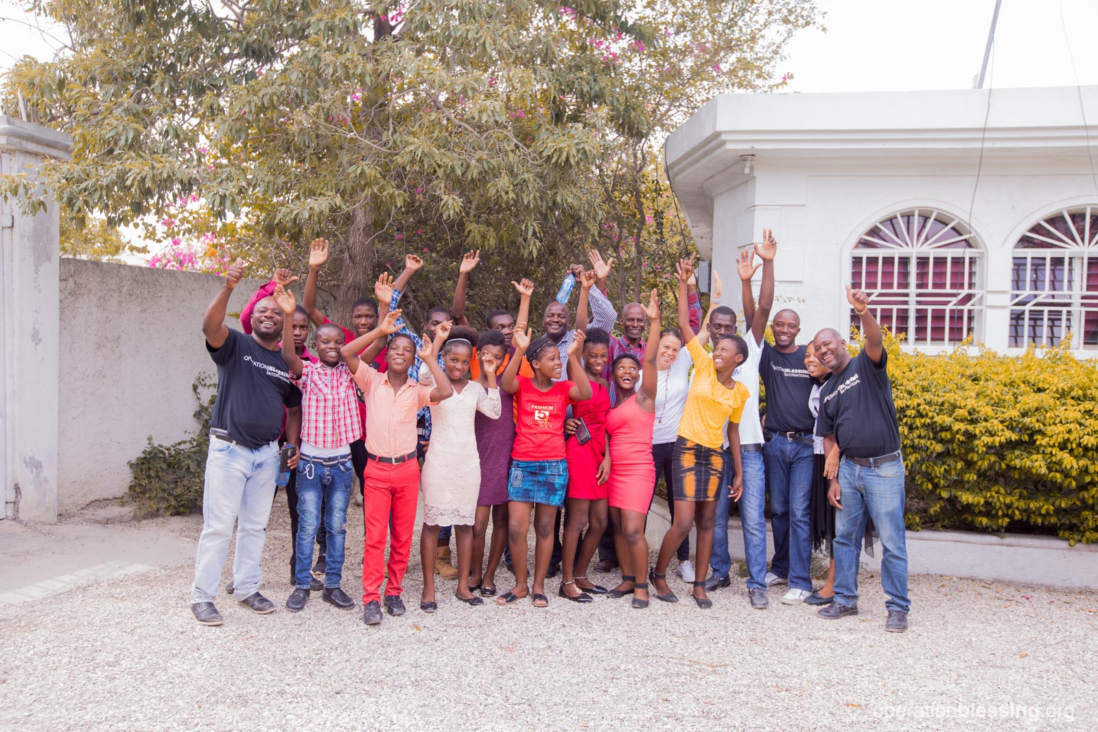 These promising students from OB Haiti's ENLA school all received scholarships and housing to continue on to middle school.