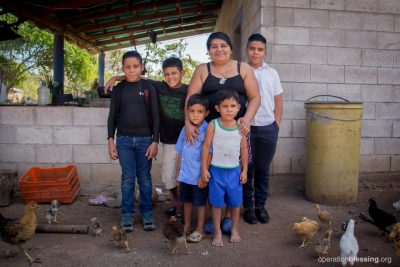 Genoveva cherishes her children after the attack.