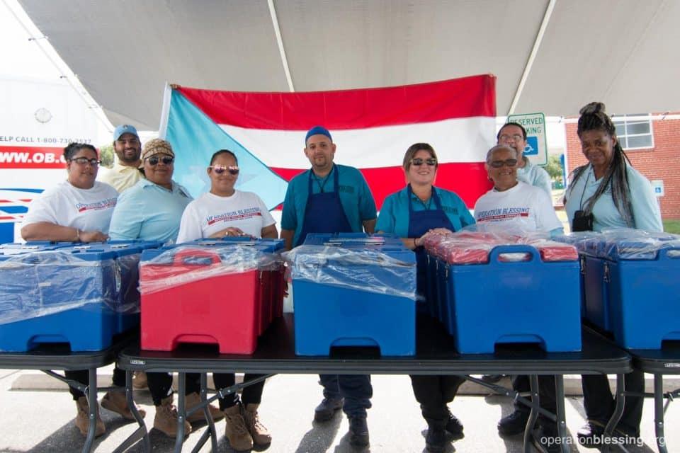 Puerto Rican volunteer team serving Lumberton, North Carolina.