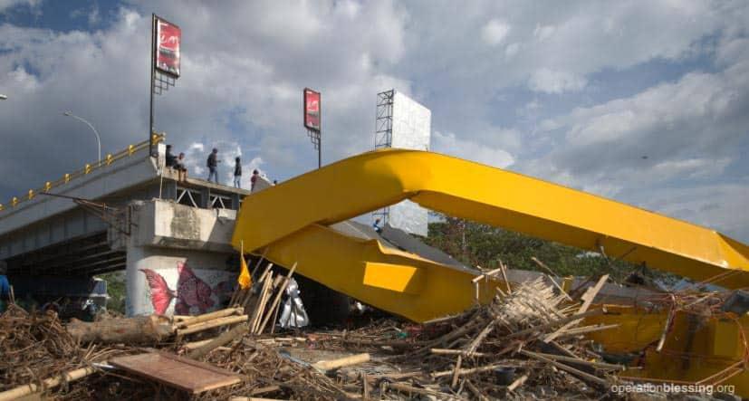 Tsunami destruction in Palu.