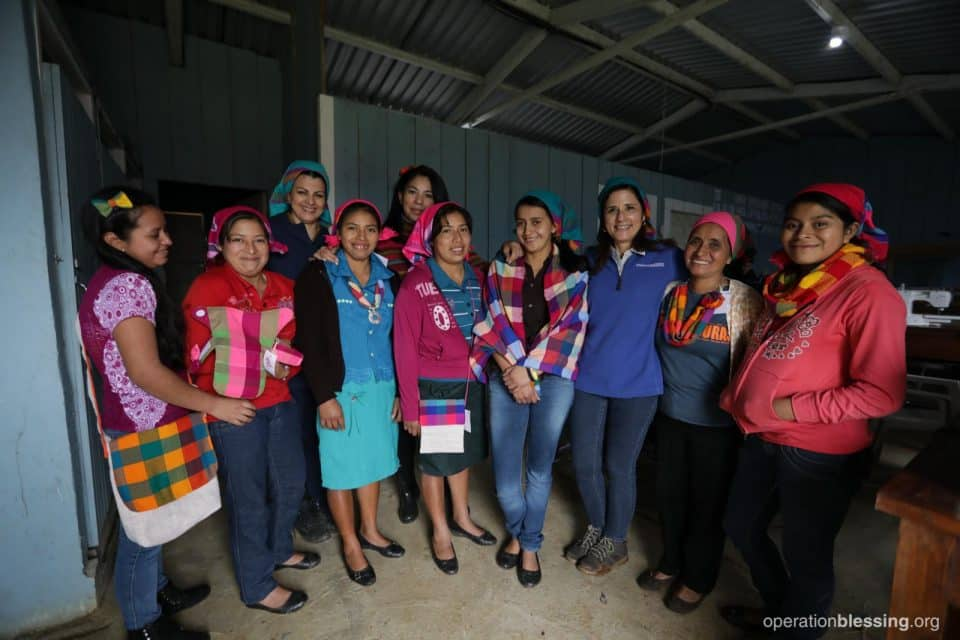 The women of the OBI sponsored weaving project in Honduras.