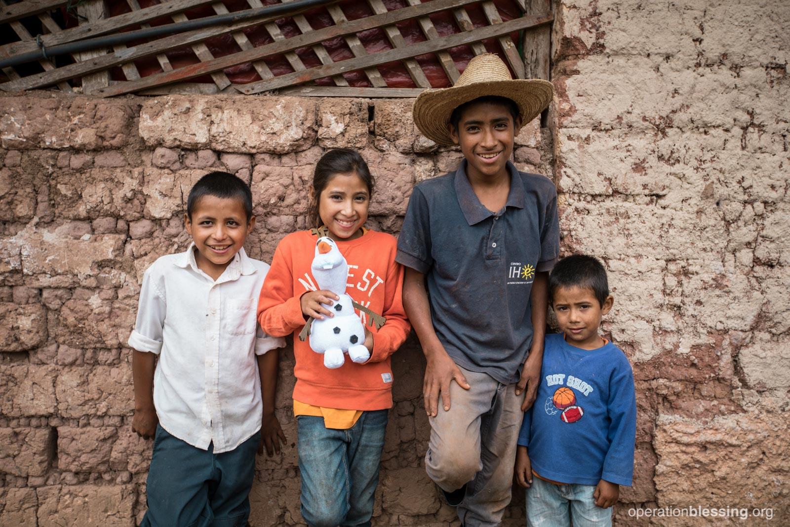 Juan with his siblings.