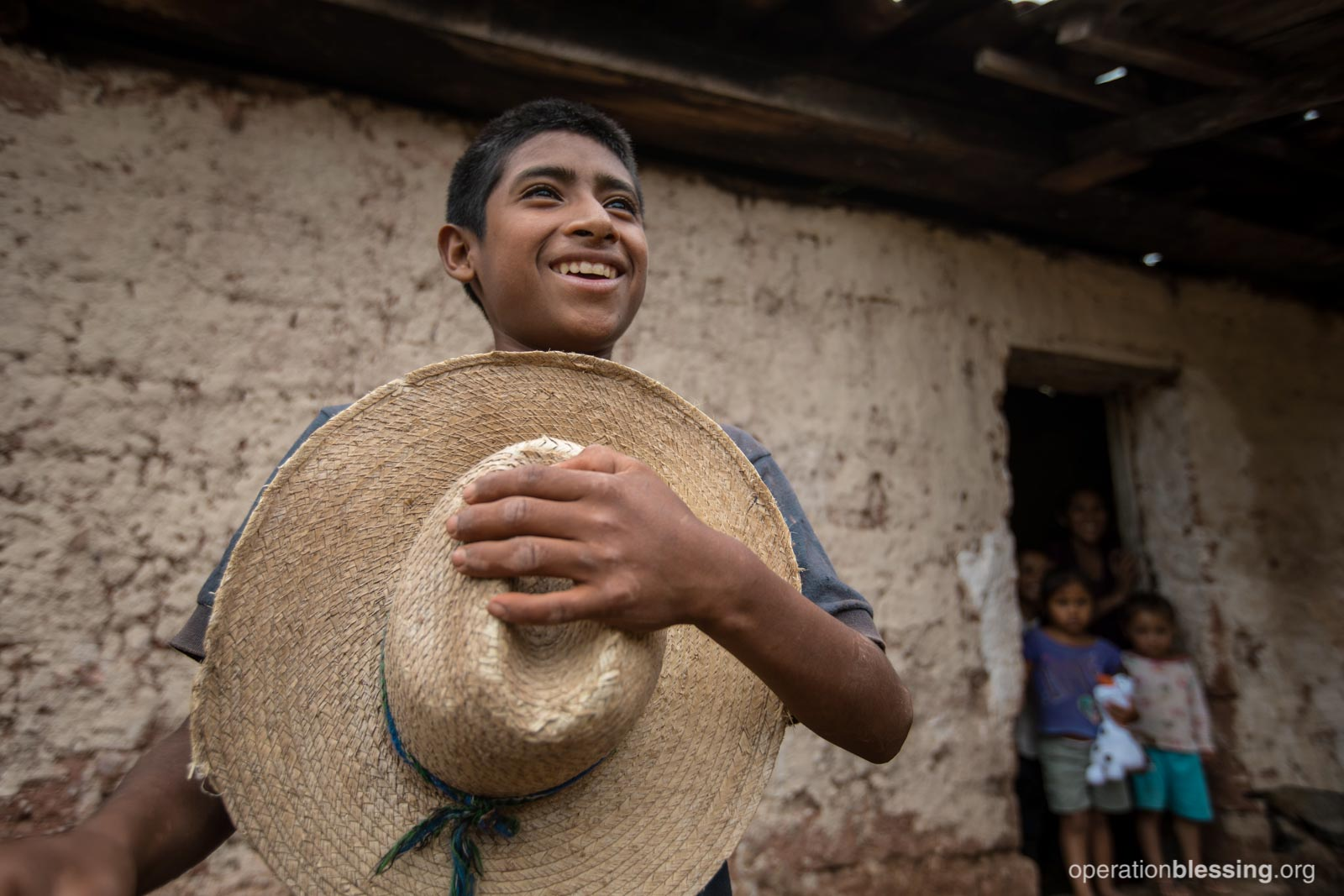 Juan is thankful for clean water.