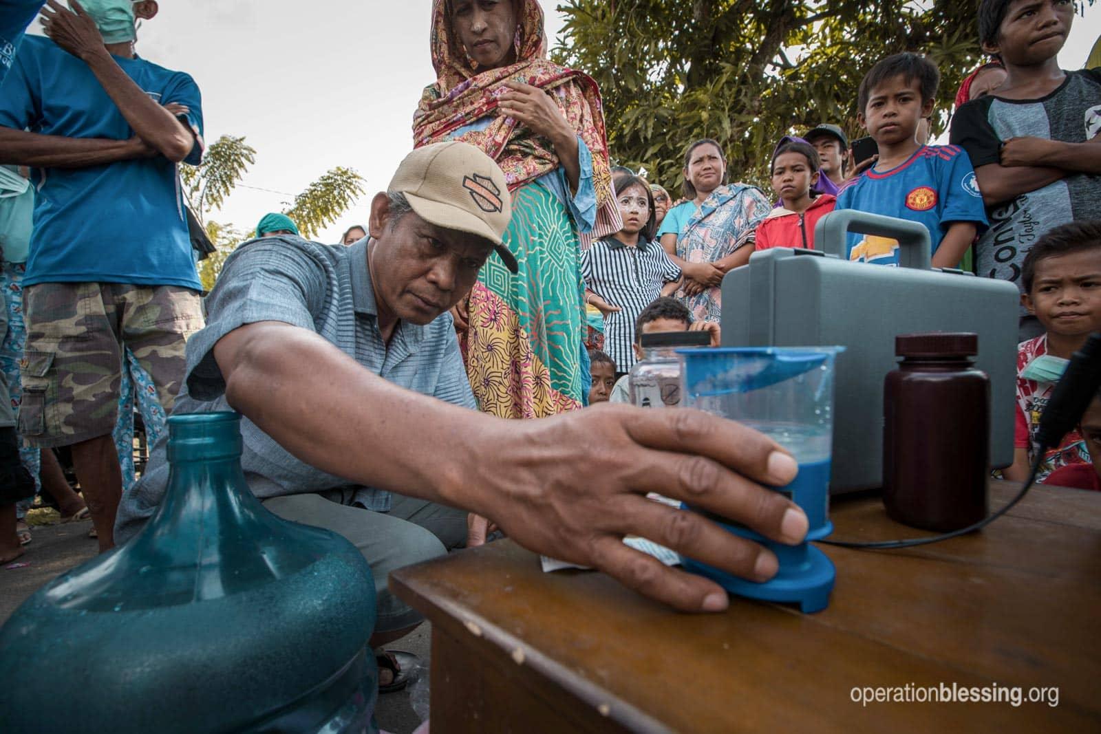 Training tsunami survivors in clean water technologies.
