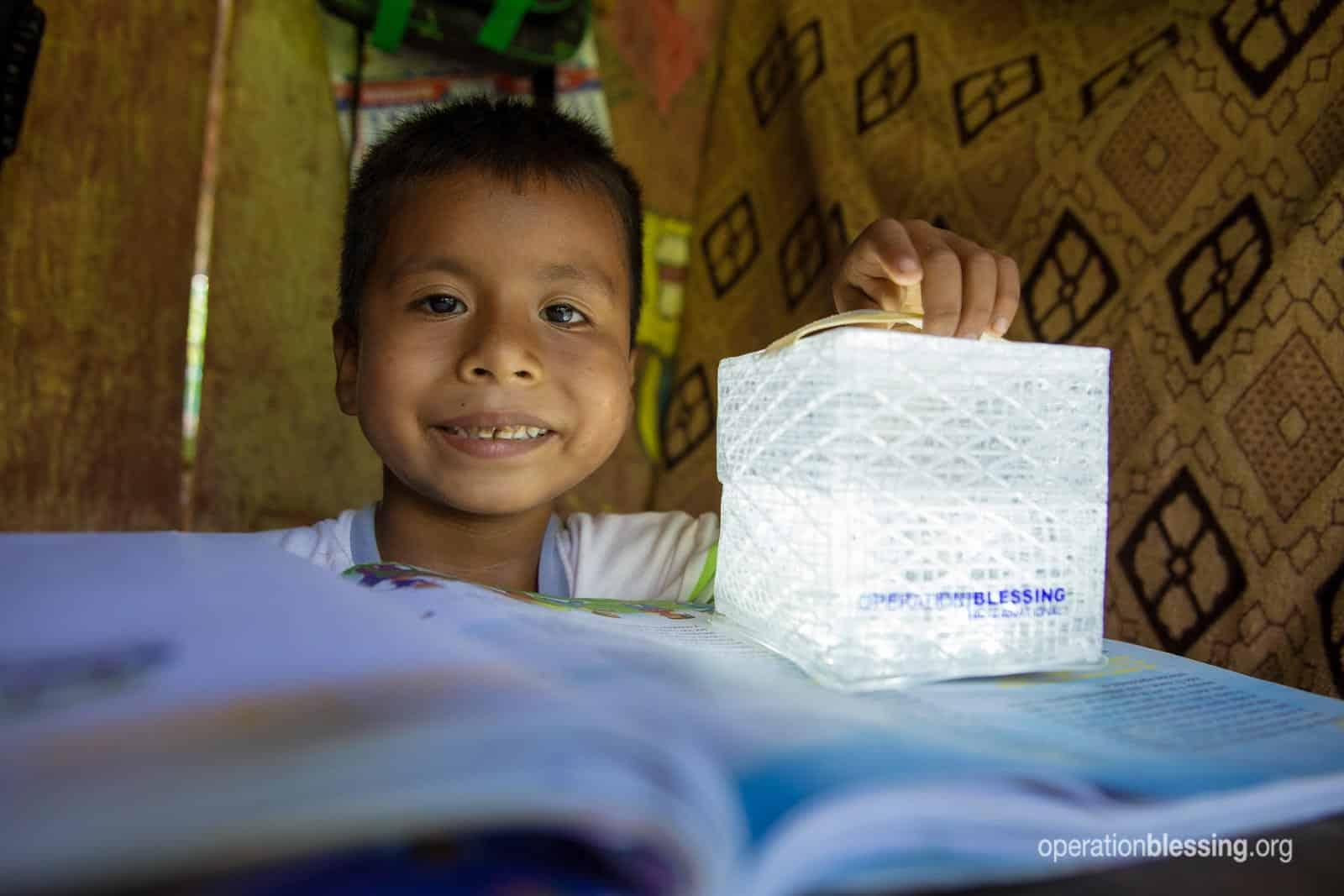 Reading by a new OB solar light.