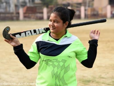 With help from Operation Blessing and the International Justice League, Pavi escaped trafficking and now plays professional field hockey.