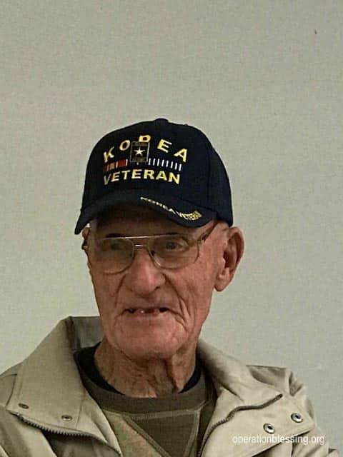 91-year-old Korean War veteran who volunteered with disaster relief in North Carolina.