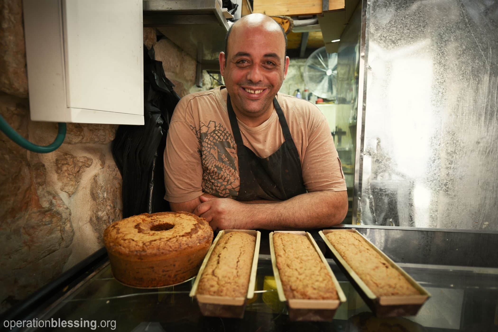 Man with his bakery microenterprise.