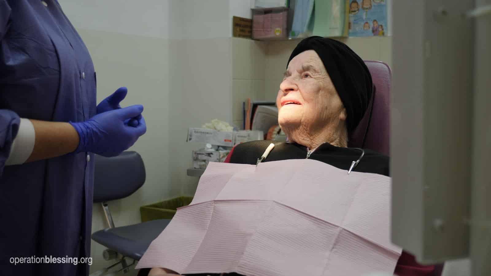 Dental care for a Holocaust survivor.