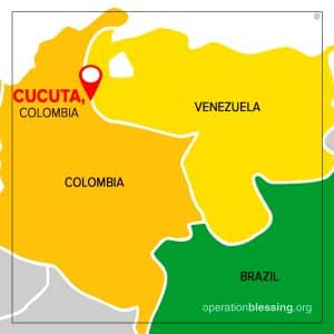 Map of border between Venezuela and Colombia