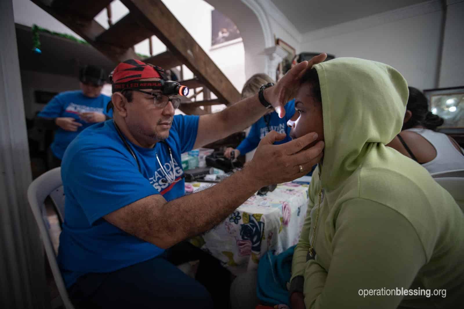 Medical care for a Venezuelan refugee.