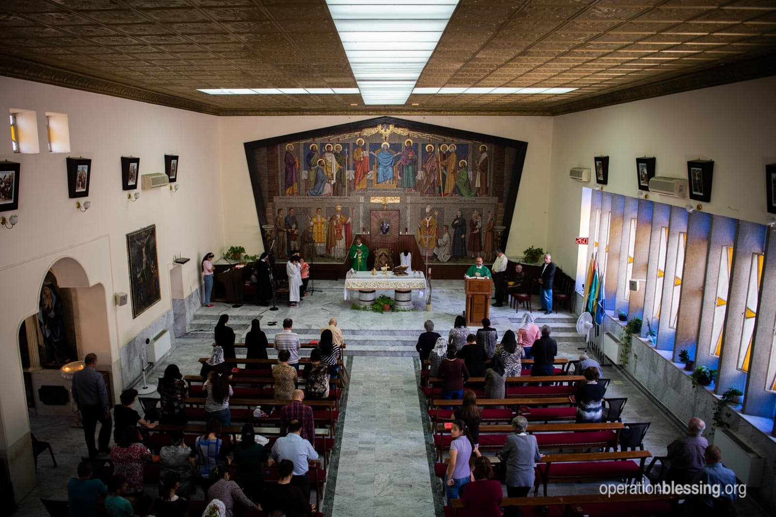 A Christian church in Jordan.