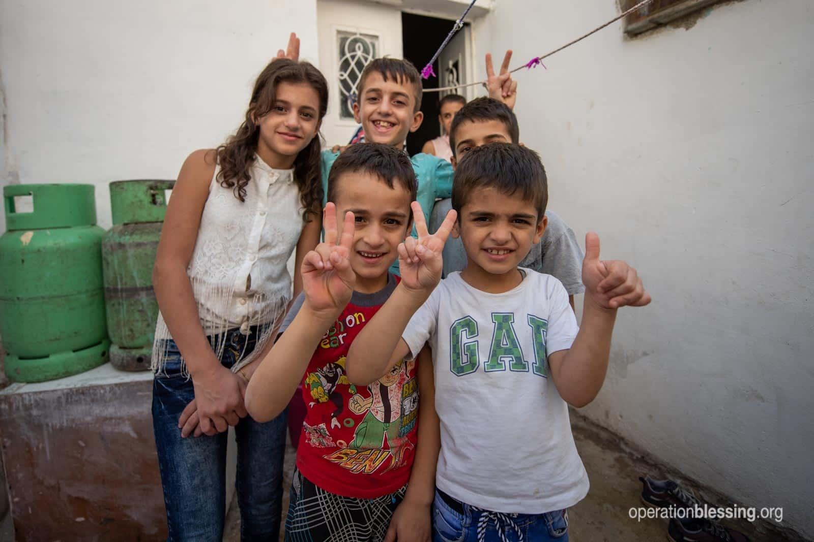 Wisam's happy kids.