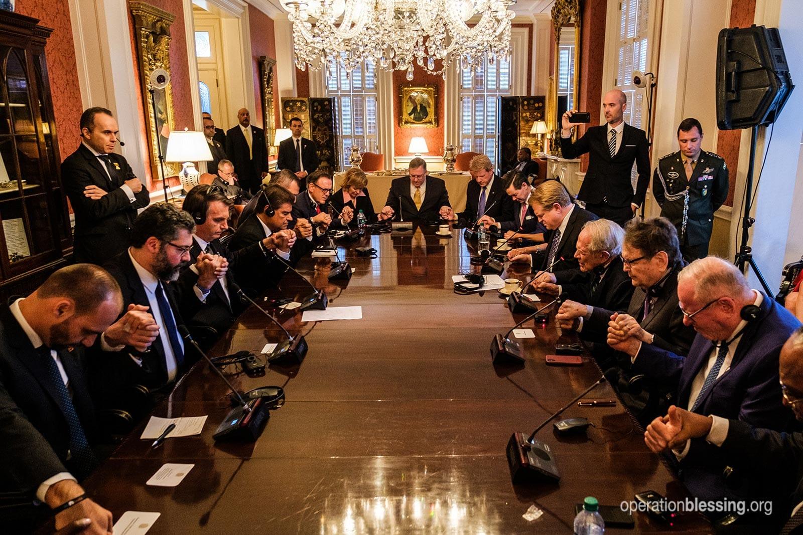 Evangelical leaders in America pray for Brazilian president.