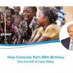 Operation Blessing founder Pat Robertson's water giving challenge.