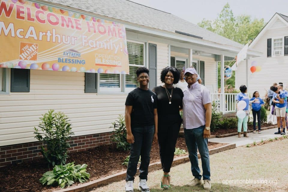 This family of three who had been struck by two hurricanes just received an extreme home makeover from Operation Blessing and The Home Depot.