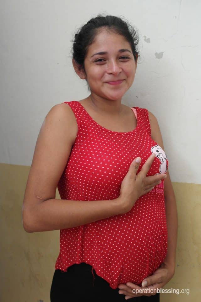 Ruth received the blessing of a free ultrasound and learned she was having twins!